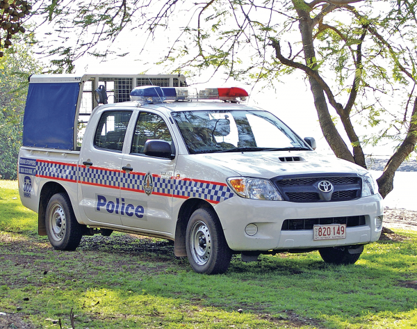 A police 'cage' in the Northern Territory