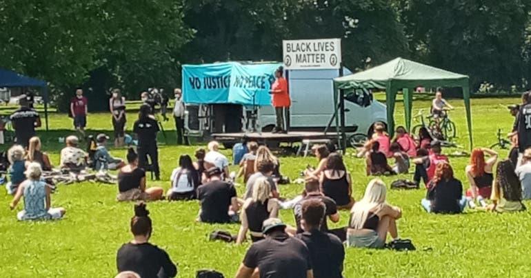 Black Lives Matter rally in Bristol