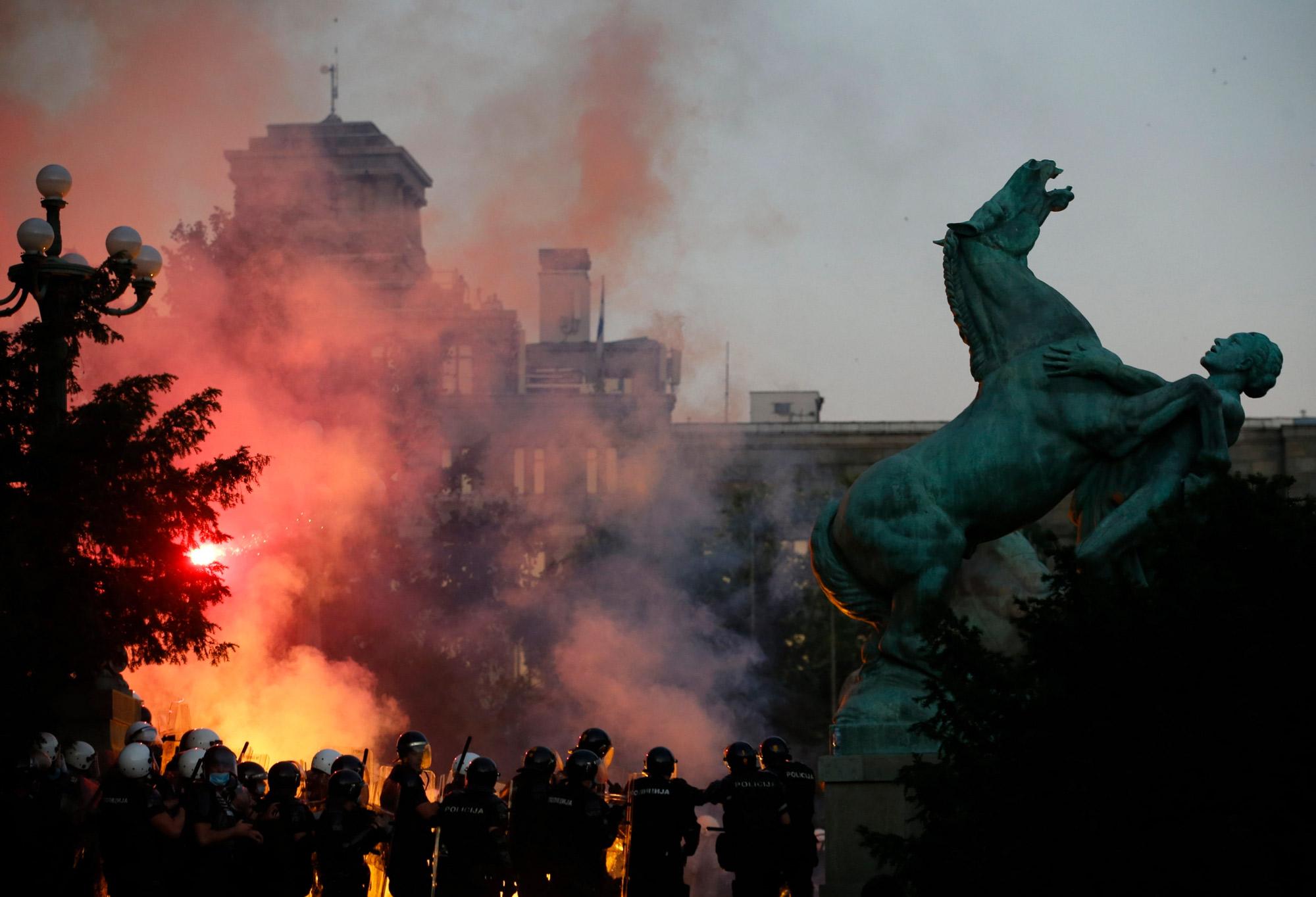 Riots in Serbia