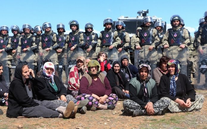 Alevi Kurdish women protesting the Turkish state