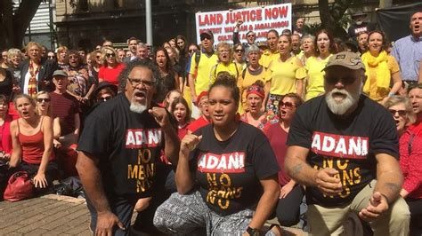 Wangan and Jagalingou people protest Adani