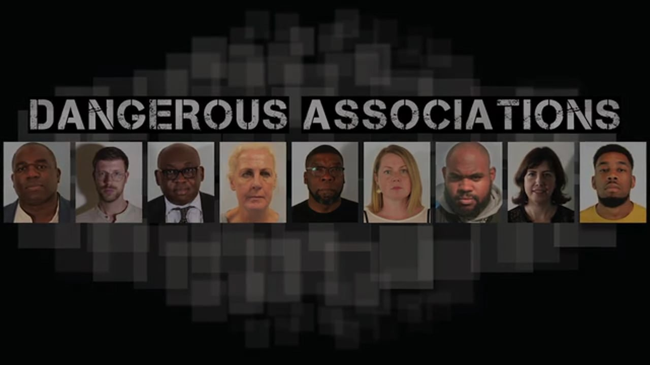 Image says Dangerous Associations with various headshots of people affected by Joint Enterprise