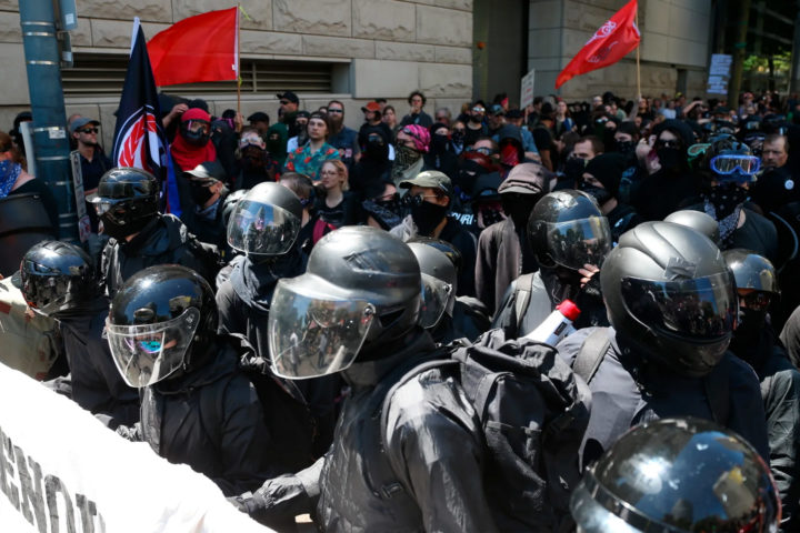 helmets worn on a demo