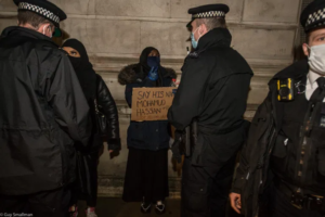 Cops shut down Westminster protest for Mohamud Hassan