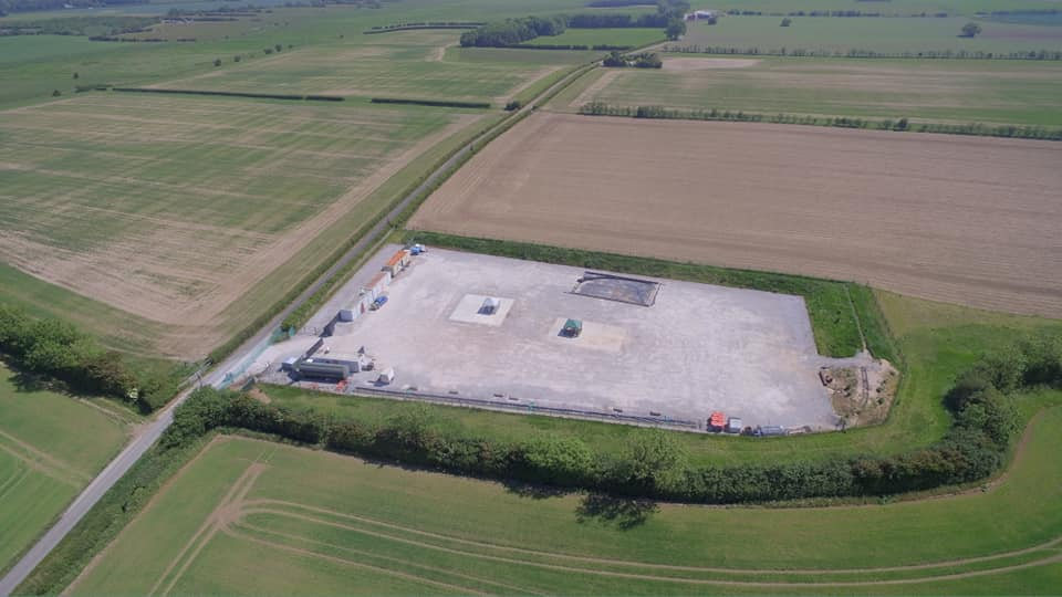 The West Newton-A well site in East Yorkshire, 2020. Photo: Used with the owner's consent