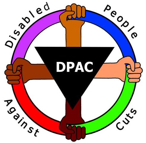 Image says Disabled People against Cuts