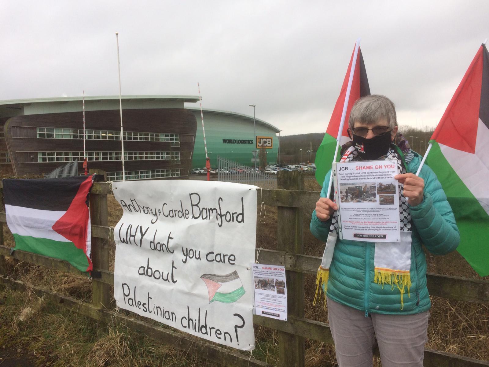 JCB protest
