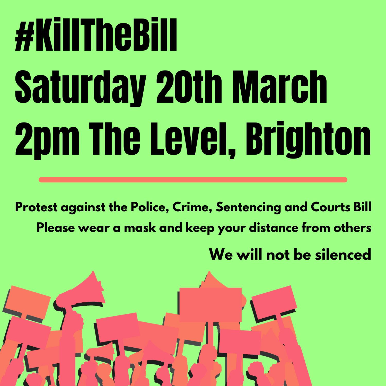 Kill the bill Brighton