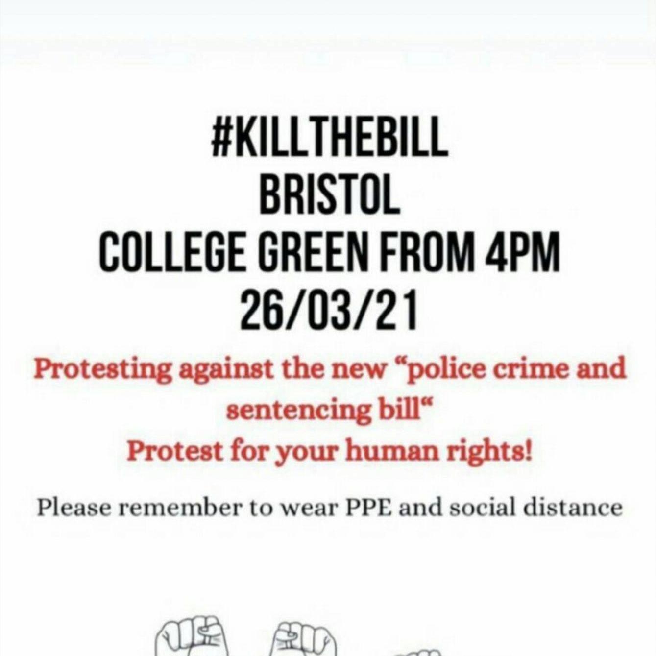 Bristol protest 26th March