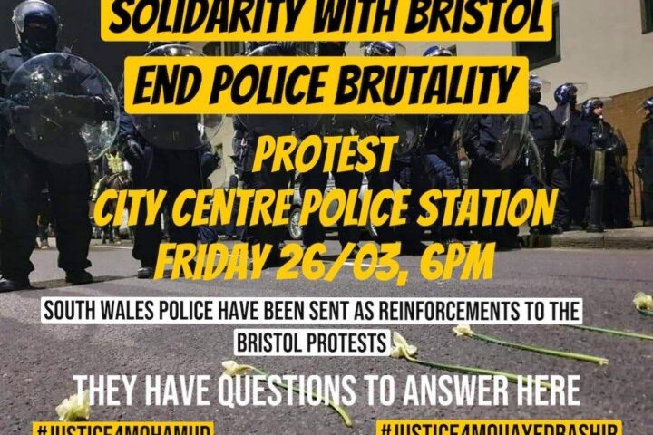 Cardiff protest 26 March