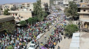 A demonstration in Afrin